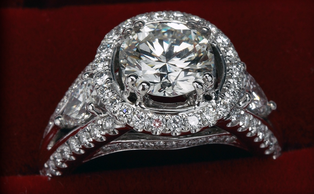 Diamond Engagement Platinum Ring at Biris Jewelers near Canton Ohio