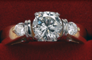 Gold and Platinum Diamond Engagement Ring at Biris Jewelers near Canton Ohio