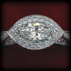 Marquise Diamond Ring at Biris Jewelers near Canton, Ohio