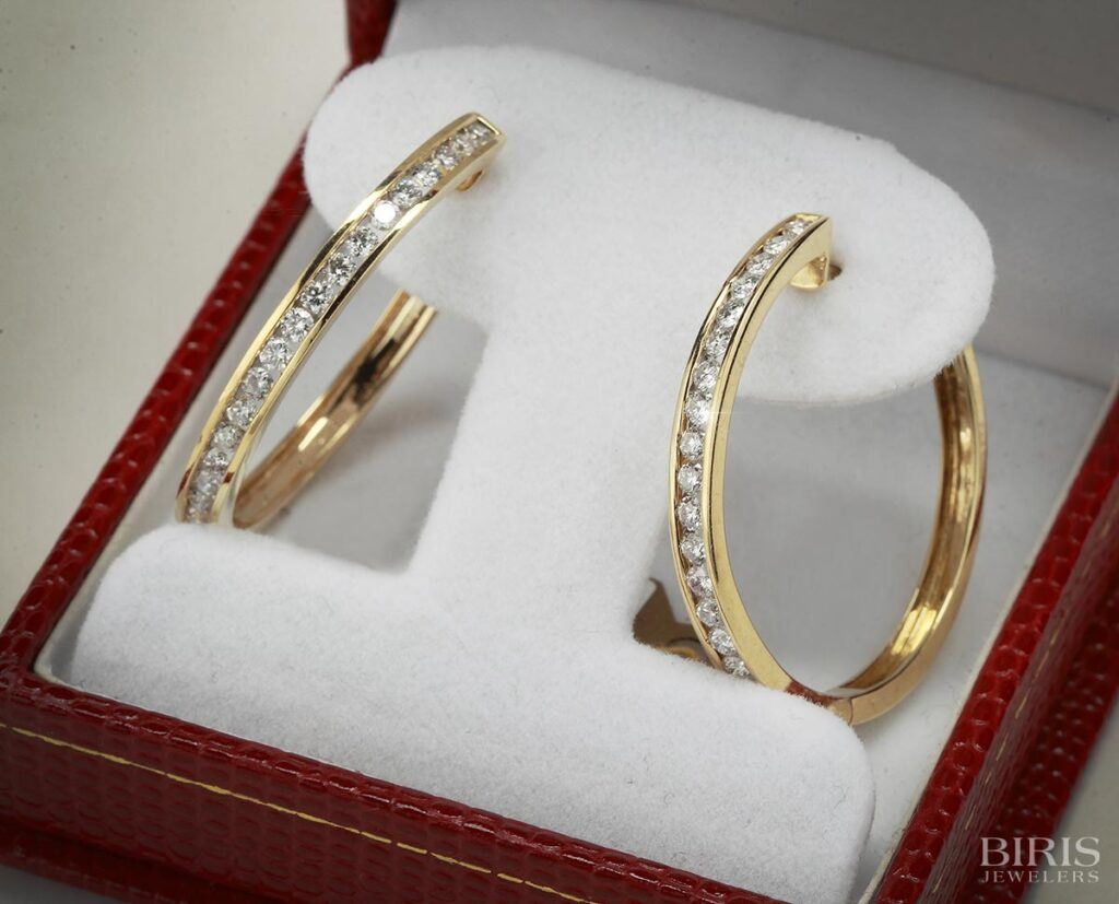 Earrings-yellow-gold-diamond-earrings