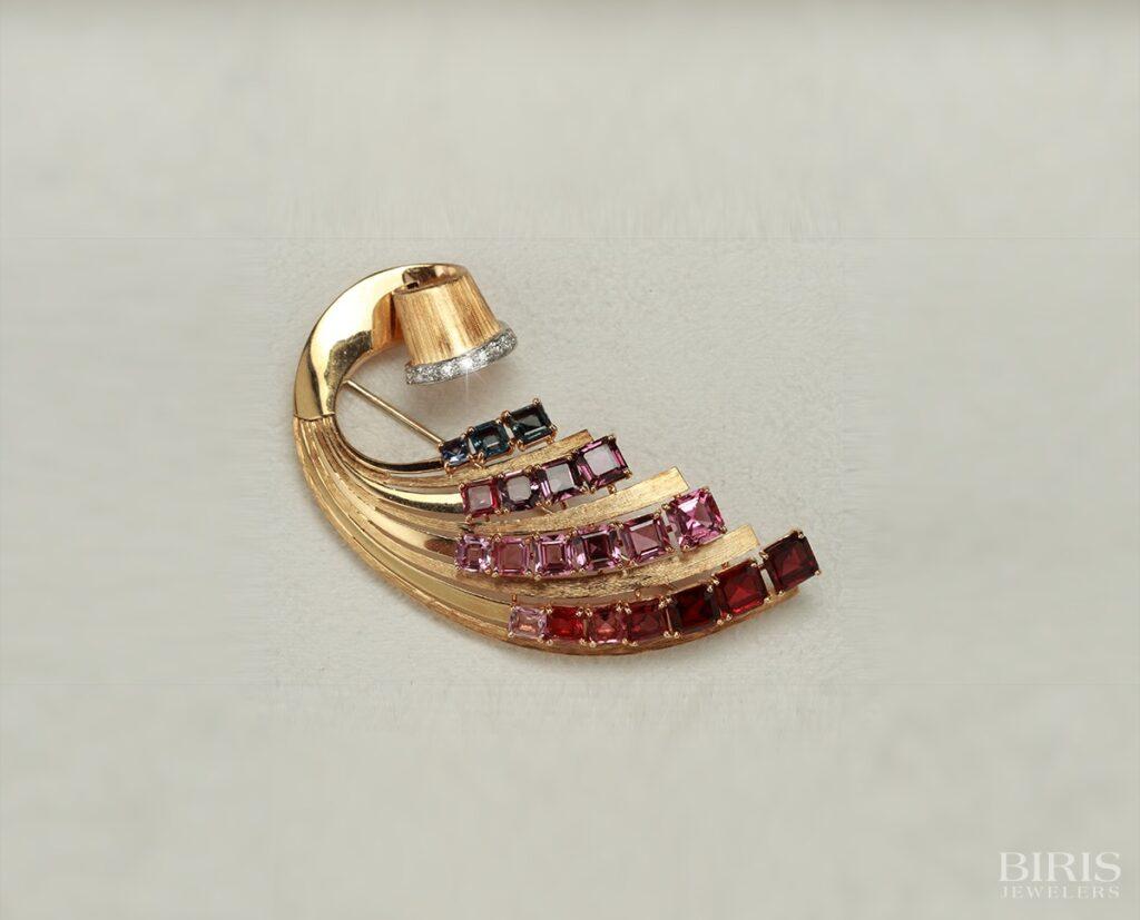 Pendant-1940s-tourmaline-and-diamond-pin