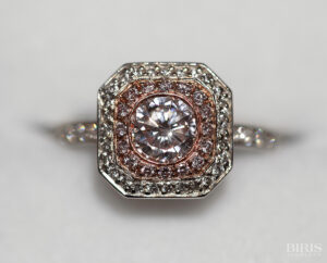 Natural Light Pink Diamond Ring