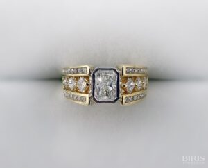 Gold and Silver Diamond Ring Setting