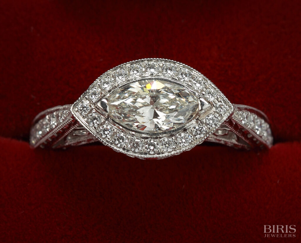 Engagement-Ring-marquise-diamond-vintage-style-engagement-ring